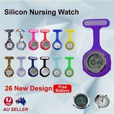 Silicone Nurse Watch Brooch Tunic Fob Nursing Nurses Pendant Clip Pocket Quartz