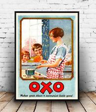 OXO Stock cubi, Vintage Pubblicità Wall Art POSTER RIPRODUZIONE.