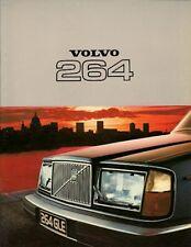 Volvo 264 1976-77 UK Market Sales Brochure GLE DL 260 Series