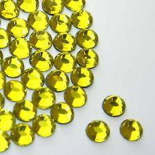 Beautiful Sparkly Citrine hot fix / iron on / glue on Rhinestone Diamante AAA