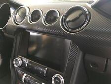 2015/2016/2017/2018 Mustang [15M_DOK BCF] Dash Overlay Kit - Carbon Fiber Vinyl