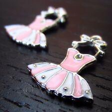 Ballet Tutu Charms Wholesale Pink Enamel Pendant Findings C3486 - 2, 5 Or 10PCs