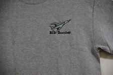 B1b Bomber Dark Grey Embroidered Crest T-shirt,Military, Jet