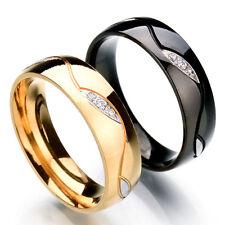 2 x Verlobungsringe Trauringe Freundschaftsring Schwarz u. Gold Partnerringe