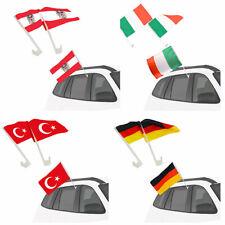 Autofahne Autoflagge Fan Fahne 2 Stück Fanartikel EM & WM Deutschland Österreich