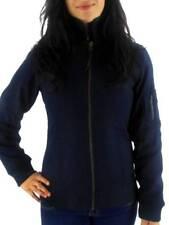 Brunotti chaqueta de Algodón Con Cuello jissus Blau Lana Entallado