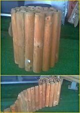 Staccionata da giardino in legno pino steccato bordura per aiuole rotolo prato
