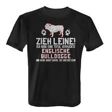 Englische Bulldogge Zieh Leine Herren T-Shirt Spruch Hunde Besitzer Rasse Lustig