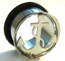 Steel Single Flare Anchor Ear Tunnel Plug 8mm - 20mm