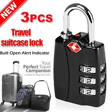 Zinc Alloy TSA Safty Luggage Combination Padlock Travel Suitcase Luggage 3-Dial