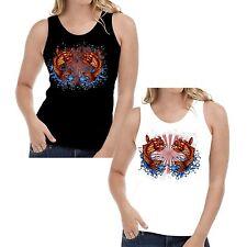 Velocitee Ladies Vest Japanese Koi Carp Fish Tattoo Pop Art Hardy Jerry  W13413