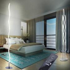 Lampadaire LED fernbedieung vagues design éclairage chambre à coucher