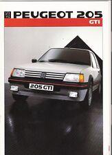 PEUGEOT 205 GTi  BROCHURE 1985 86 jm