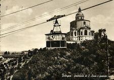 """"""" BOLOGNA : Santuario di S. Lucia e funivia """"  Viaggiata Anno 1954"""