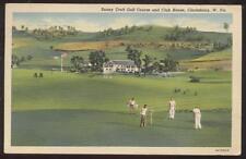 Postcard Clarksburg,West Virginia/WV Sunny Croft Golf Course & Club House 1930's