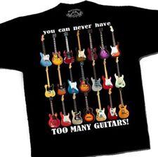 """Tee shirt """"Too many guitars"""""""