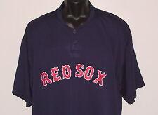 NEW MLB Boston RED SOX MAJESTIC 2-Button *COOL BASE* Henley SHIRT (S) (2XL)(3XL)