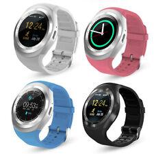 Dorado y1 smartphone reloj de pulsera móvil Bluetooth Messenger Bluetooth huawei