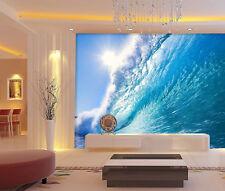 Papel Pintado Mural De Vellón Sol Azul Mar Olas 12 Paisaje Fondo De Pantalla ES