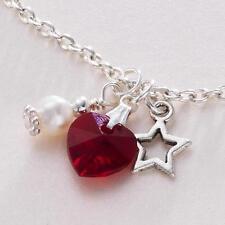 Collar Con Piedra De Nacimiento con estrella & Auténtico Agua dulce Perla