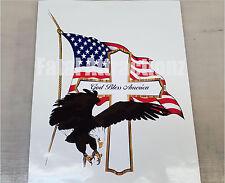 God Bless America Cross Eagle Cross Flag Vinyl Sticker Decal USA patriotic
