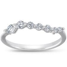 Women's 1/2ct Diamond Journey Ring Solid 14K White Gold