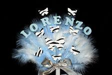 Nombre de brillo, Edad, CEBRA Mariposas, Plumas De Cumpleaños, Bautizo Cake Topper