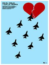 En el cielo y en la Tierra vintage Movie POSTER.Graphic Design. Art Decor.3431