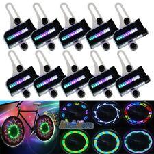 10x30 Change Cycling Bike Bicycle Tire Wheel Valve 22 LED Flash Spoke Light Lamp