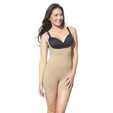 Nude /& Black New Hanes Women/'s Smoothing Torset Bodysuit Style # T273 T73P