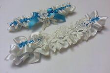 Wedding Giarrettiera Da Sposa Giarrettiera Bianco, Avorio qualcosa di blu Pigiama con set di 2 R/L/XL