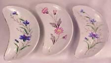 3 Vintage Porcelain FLOWER PATTERN BONE DISHES Pretty!