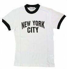 NYC FACTORY New York City Kids John Lennon Ringer NYC Boys Beatles T-Shirt White