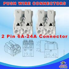 Conector del cable de alambre rápido empuje Bloque Terminal De Cableado Para Iluminación LED 24A 220V