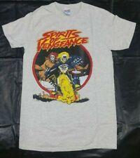 New Ghost Rider Spirits of Vengeance Vintage Retro Fade Look Marvel Mens T-shirt