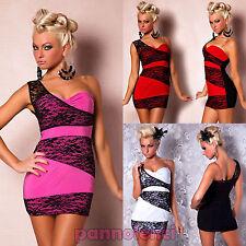 Miniabito monomanica PIZZO floreale donna vestitino abito moda lace dress DL-566