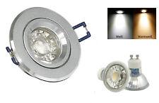 aluminio focos empotrables Kira 230v REGULABLE GU10 POWER LED 5w=50w