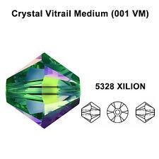 CRYSTAL VITRAIL MEDIUM (001 VM) Genuine Swarovski 5328 Bicone Beads *All Sizes