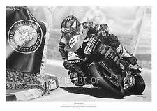 Michael Dunlop Hawk Racing BMW S1000RR 2016 Southern 100 Drawing fine art print
