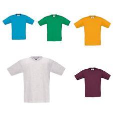 B&C Kinder T-Shirt EXACT 150 KIDS Kurzarm Einfarbig Rundhals Neu TK300
