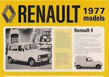 Renault 1976-77 UK Market Foldout Sales Brochure 4 5 6 12 16 15 17 20 30