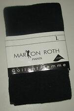 MARION ROTH COLLANTS DOUCEUR COTON POUR FEMMES PANTYS TIGHTS NOIR TAILLES S,M,L