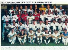 1977 ALL STAR TEAM AMERICAN LEAGUE 8X10 PHOTO DIMAGGIO SCOTT RICE JONES BASEBALL