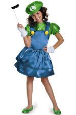 Super Mario Brothers Luigi Skirt Child Costume