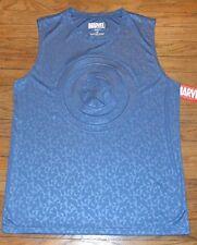 Marvel Comics Captain America 3-D Logo Muscle Tank Sleeveless Tee Tank Licensed