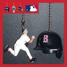MLB BASEBALL BOSTON RED SOX BATTING HELMET & CHOICE OF FIGURE CEILING FAN PULLS