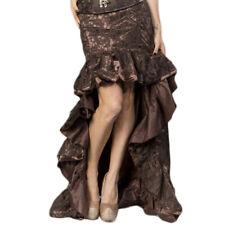 Steampunk Schleierrock Gothic Rüschen Rock lang Maxi asymmetrisch Retro Skirt