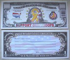 SEGNALIBRO banconota DOLLARO supporta le truppe esercito USA guerra $ collezione