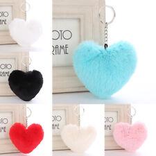 Gift Key Ring Pompom Keychain Handbag Heart Shape Car Pendant Accessory