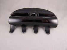 "Black shiny plastic 4.5"" long barrette Big Huge hair clip claw clamp"